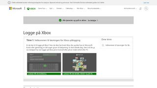 Påloggingshjelp for Xbox One | Logge på Xbox Live | Konfigurere ...