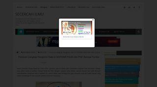 Panduan Lengkap Pengisian Data di SISPENA PAUD dan PNF ...