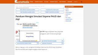 Panduan Mengisi Simulasi Sispena PAUD dan PNF - KuotaMedia.com