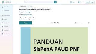 Panduan Sispena PAUD Dan PNF (Lembaga) - Scribd