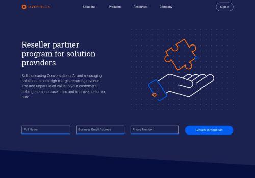 Partner program | LivePerson