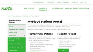 Patient Portal | Floyd Medical Center | Floyd Health