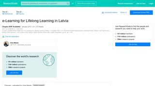 (PDF) e-Learning for Lifelong Learning in Latvia - ...
