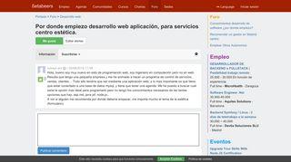 Por donde empiezo desarrollo web aplicación, para servicios centro ...