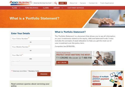 Portfolio Statements - ICICI Prudential
