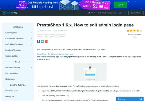 PrestaShop 1.6.x. How to edit admin login page - Template Monster ...
