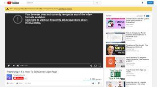 PrestaShop 1.6.x. How To Edit Admin Login Page - YouTube