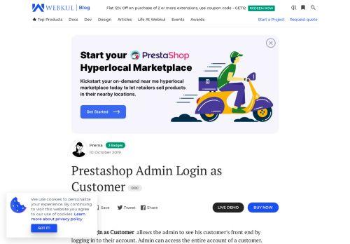Prestashop Admin Login as Customer | Access Your User's Account