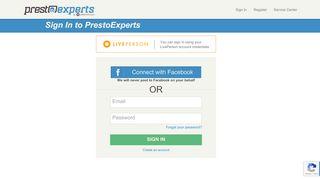 PrestoExperts - Member Sign in