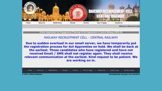 Railway Recruitment Cell - Central Railway