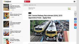 RRC Central Railway Recruitment 2018, 2573 Apprentice Posts ...