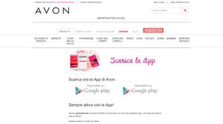 Scarica ora la App di Avon
