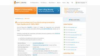 scco.terminusfleet.com XSS vulnerability | Open Bug Bounty | Website ...