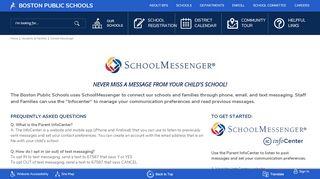 School Messenger / School Messenger - Boston Public Schools