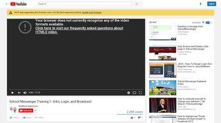 School Messenger Training 1- Intro, Login, and Broadcast - YouTube