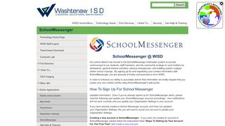 SchoolMessenger | Washtenaw ISD