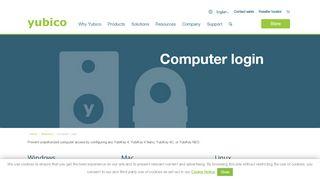 Secure Computer login Smart Card (PIV) Two-Factor | Yubico
