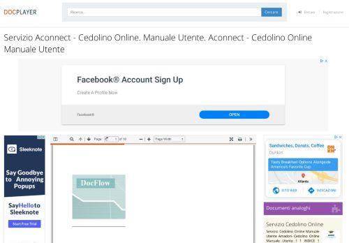 Servizio Aconnect - Cedolino Online. Manuale Utente. Aconnect ...