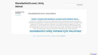 Showbahis33.com| Giriş Adresi - Google Sites