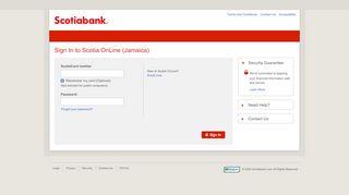 Sign In to Scotia OnLine (Jamaica) - Scotiabank