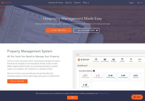 Sirvoy: Hotel reservation system | Hotel software