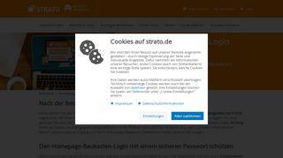 So in Ihren neuen STRATO Homepage-Baukasten einloggen - Strato AG