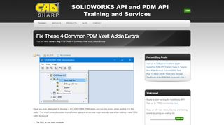 SOLIDWORKS API and PDM API Training and Services » Fix These 4 ...