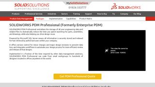 SOLIDWORKS PDM Professional | Solid Solutions