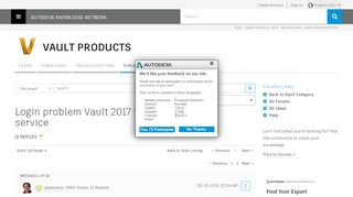 Solved: Login problem Vault 2017 in custom web service - Autodesk ...