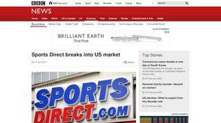 Sports Direct breaks into US market - BBC News