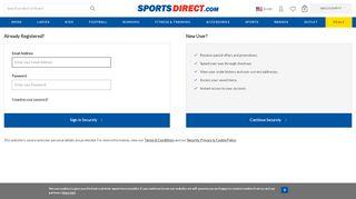 SportsDirect.com > Login