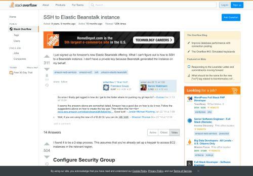 SSH to Elastic Beanstalk instance - Stack Overflow