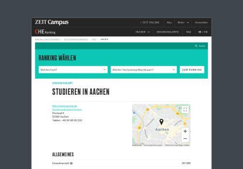 Studieren in Aachen   ZEIT Campus - CHE Hochschulranking - Die Zeit