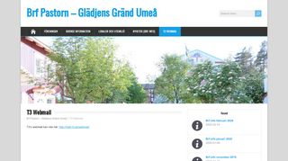 T3 Webmail – Brf Pastorn – Glädjens Gränd Umeå