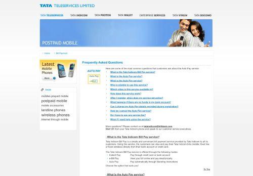 Tata Teleservices :: Tata Photon - BillDesk
