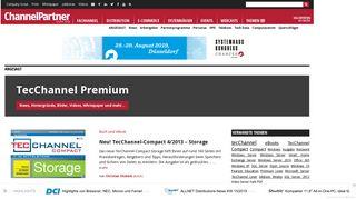 TecChannel Premium - Artikel und News zum ... - ChannelPartner