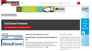 TecChannel Premium - Artikel und News zum ... - Computerwoche