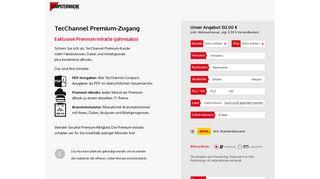 TecChannel Premium-Zugang - COMPUTERWOCHE