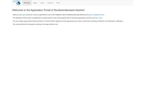 the Application Portal of Studierendenwerk Aachen! - Bewerberportal