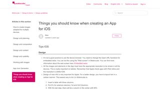 Things you should know when creating an App for iOS – Mobincube