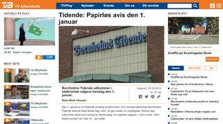 Tidende Papirløs avis den 1. januar - TV2 Bornholm