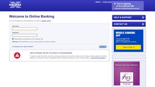 to Login - Halifax online banking