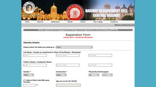 to Register - Railway Recruitment Cell - Central Railway