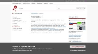 Trådløst net – Københavns Universitet