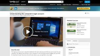 Understanding the computer's login account - Lynda.com