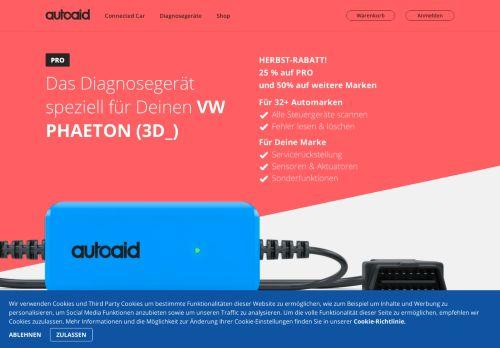 VW PHAETON (3D_) – OBD 2 Fehlerspeicher auslesen mit autoaid.de