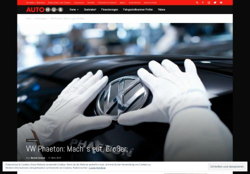 VW Phaeton: Mach´s gut, Großer. - Autohub.de