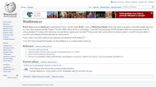 Warforum.cz – Wikipedie