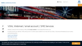Webmail | VSNL Email Account | Resources | Tata Communications
