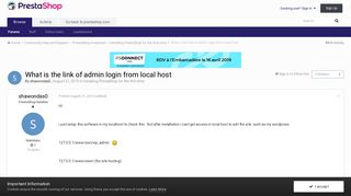What is the link of admin login from local host - Installing ...